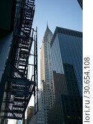 Купить «Low angle view of Chrysler Building, New York City, New York State, USA», фото № 30654108, снято 24 апреля 2016 г. (c) Ingram Publishing / Фотобанк Лори