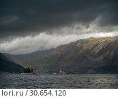 Купить «Clouds over bay with Ostrvo Sveti Dorde, Bay of Kotor, Montenegro», фото № 30654120, снято 22 сентября 2019 г. (c) Ingram Publishing / Фотобанк Лори