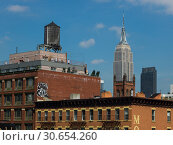 Купить «Buildings with Empire State Building in the background, Midtown Manhattan, New York City, New York State, USA», фото № 30654260, снято 23 мая 2019 г. (c) Ingram Publishing / Фотобанк Лори