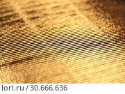 Купить «Luxury gold corrugated paper texture for background , abstract golden pattern», фото № 30666636, снято 26 апреля 2019 г. (c) bashta / Фотобанк Лори