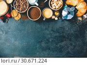 Купить «Coffee composition», фото № 30671224, снято 16 февраля 2018 г. (c) easy Fotostock / Фотобанк Лори
