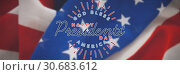 Купить «Composite image of god bless america. happy presidents day. vector typography», фото № 30683612, снято 10 июля 2020 г. (c) Wavebreak Media / Фотобанк Лори