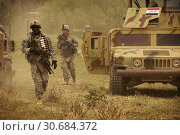 Купить «IRAQ Hor Al Bosh -- 30 Jul 2008 -- US and Iraqi forces head out after conducting a cooperative medical engagement in Hor Al Bosh, Iraq -- Picture by Daniel...», фото № 30684372, снято 15 декабря 2019 г. (c) age Fotostock / Фотобанк Лори