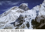 Купить «File image dated Dec 2005 of the summit of Mount Everest (centre) in Nepal. The 29th May is the anniversary of the first ascent of the mountain by a British...», фото № 30684464, снято 24 сентября 2007 г. (c) age Fotostock / Фотобанк Лори
