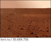 Купить «MARS Gusev Crater -- Jan 2004 -- Image of the Martian surface from the NASA Spirit rover module which landed on the surface of the Red Planet in late December...», фото № 30684756, снято 21 мая 2019 г. (c) age Fotostock / Фотобанк Лори