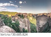 Купить «Varlaam Monastery in Meteora, Greece», фото № 30685824, снято 4 июля 2018 г. (c) Sergii Zarev / Фотобанк Лори