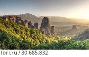 Купить «Rousanou Monastery in Meteora, Greece», фото № 30685832, снято 4 июля 2018 г. (c) Sergii Zarev / Фотобанк Лори