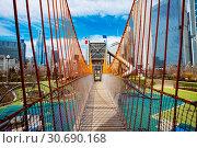 Playground bridge in Chicago Maggie Daley park (2018 год). Стоковое фото, фотограф Сергей Новиков / Фотобанк Лори