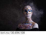 Купить «Creative podium makeup in Venetian lady style», фото № 30694108, снято 1 апреля 2019 г. (c) Sergii Zarev / Фотобанк Лори