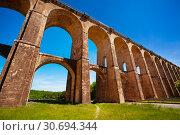 Купить «Remarkable bridge view of viaduct of Chaumont, France», фото № 30694344, снято 25 мая 2017 г. (c) Сергей Новиков / Фотобанк Лори