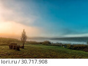 Купить «Sunrise at the dam at Tortoni near Maclear», фото № 30717908, снято 27 марта 2018 г. (c) easy Fotostock / Фотобанк Лори