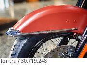 Motorcycle front wheel. Стоковое фото, фотограф Николай Куницкий / Фотобанк Лори