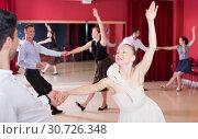 People dancing lindy hop. Стоковое фото, фотограф Яков Филимонов / Фотобанк Лори