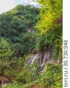 Купить «Krushuna waterfalls in Bulgaria», фото № 30730948, снято 2 июля 2018 г. (c) Sergii Zarev / Фотобанк Лори