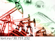 Oil and gas industry, business and financial background. Mining, oil refinery industry and stock market concept. Стоковое фото, фотограф bashta / Фотобанк Лори