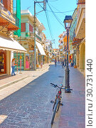 Купить «Street in Rethymnon», фото № 30731440, снято 26 апреля 2018 г. (c) Роман Сигаев / Фотобанк Лори