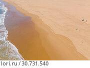 Купить «Atlantic ocean sandy beach with turquoise ocean and waves. Aerial view», фото № 30731540, снято 30 апреля 2019 г. (c) Кирилл Трифонов / Фотобанк Лори
