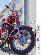 Купить «Old jawa red motorcycles. Cheboksry, Russia, 05/09/2019», фото № 30737548, снято 9 мая 2019 г. (c) Александр Якимов / Фотобанк Лори