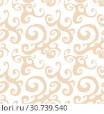 Купить «Vector seamless pattern background with brown swirl», иллюстрация № 30739540 (c) Helen Burceva / Фотобанк Лори