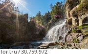 Купить «Республика Горный Алтай. Камышлинский водопад», фото № 30759972, снято 11 мая 2019 г. (c) Александр / Фотобанк Лори