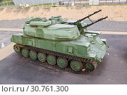 Купить «The antiaircraft Shilka self-propelled emplacement on the embankment to Volgograd», фото № 30761300, снято 27 апреля 2019 г. (c) Владимир Арсентьев / Фотобанк Лори