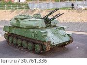 Купить «The antiaircraft Shilka self-propelled emplacement on the embankment to Volgograd», фото № 30761336, снято 27 апреля 2019 г. (c) Владимир Арсентьев / Фотобанк Лори