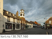 Купить «Sunset in Steyning, West Sussex, England.», фото № 30767160, снято 31 августа 2017 г. (c) age Fotostock / Фотобанк Лори