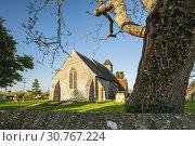 Купить «Early spring at Binsted village church in West Sussex, England.», фото № 30767224, снято 11 апреля 2019 г. (c) age Fotostock / Фотобанк Лори