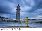 Купить «Stormy evening at Kingston Lighthouse, Shoreham-by-Sea, West Sussex, England.», фото № 30767324, снято 3 мая 2019 г. (c) age Fotostock / Фотобанк Лори