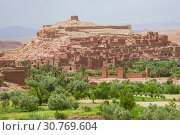 Купить «Kasbah Ait Ben Haddou in the Atlas mountains of Morocco. UN», фото № 30769604, снято 2 сентября 2008 г. (c) Gagara / Фотобанк Лори