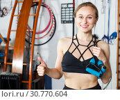 Girl with skipping rope. Стоковое фото, фотограф Яков Филимонов / Фотобанк Лори
