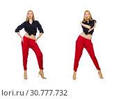 Купить «Young woman in fashion concept», фото № 30777732, снято 25 марта 2014 г. (c) Elnur / Фотобанк Лори
