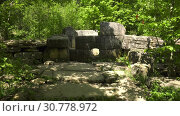 Дольмен в долине реки Жане. Dolmen in the valley of the river Zhane. Стоковое видео, видеограф Евгений Романов / Фотобанк Лори