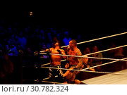 Hamburg, Germany - May 16th 2019: The Wrestling-Match Randy Orton vs. AJ Styles. Редакционное фото, фотограф Björn Deutschmann / age Fotostock / Фотобанк Лори