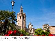 Купить «Picturesque view of Placa de la Reina», фото № 30789308, снято 16 апреля 2019 г. (c) Яков Филимонов / Фотобанк Лори