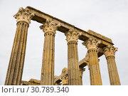 Купить «Columns of Roman Temple in Evora», фото № 30789340, снято 20 апреля 2019 г. (c) Яков Филимонов / Фотобанк Лори
