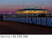"""Купить «Стадион """"Газпром Арена"""". Санкт-Петербург.», фото № 30789396, снято 12 мая 2019 г. (c) Роман Рожков / Фотобанк Лори"""