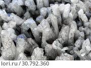 Background - druse of quartz crystals. Стоковое фото, фотограф Евгений Харитонов / Фотобанк Лори