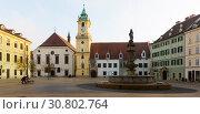 Купить «Historical center of Bratislava with Main Square», фото № 30802764, снято 4 ноября 2017 г. (c) Яков Филимонов / Фотобанк Лори