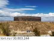 Black fortress or Sev-Berd in Gyumri. It was built in the middle of the XIX century after the end of the Russian-Turkish war of 1828-1829. Armenia (2018 год). Стоковое фото, фотограф Наталья Волкова / Фотобанк Лори