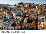 Historical centre of Lisbon with Cathedral (2019 год). Стоковое фото, фотограф Яков Филимонов / Фотобанк Лори