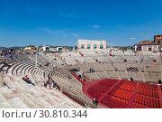 Купить «Arena di Verona - ancient Roman amphitheatre in Verona, Italy», фото № 30810344, снято 21 апреля 2017 г. (c) Наталья Волкова / Фотобанк Лори