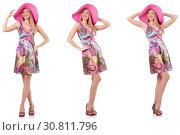 Купить «Fashionable woman isolated on white», фото № 30811796, снято 18 июня 2019 г. (c) Elnur / Фотобанк Лори
