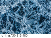 Купить «Patterns on the ice of lake Baikal. Irkutsk region, Eastern Siberia, Russia», фото № 30813980, снято 18 марта 2019 г. (c) Наталья Волкова / Фотобанк Лори