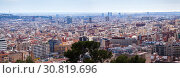Купить «panoramic view of picturesque Barcelona cityscape», фото № 30819696, снято 5 июля 2020 г. (c) Яков Филимонов / Фотобанк Лори