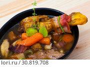 Купить «Scottish chicken soup Cock-a-leekie», фото № 30819708, снято 26 июня 2019 г. (c) Яков Филимонов / Фотобанк Лори