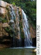 El Torrent de la Cabana small mountain stream. Стоковое фото, фотограф Яков Филимонов / Фотобанк Лори