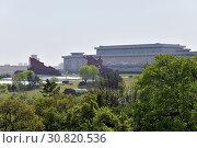 Купить «Pyongyang, North Korea. Bronze statue of Kim Il Sung and Kim Jong Il on the Mansu hill», фото № 30820536, снято 1 мая 2019 г. (c) Знаменский Олег / Фотобанк Лори