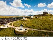 Купить «View of famous Route of Don Quixote in Consuegra with windmills», фото № 30833924, снято 23 апреля 2019 г. (c) Яков Филимонов / Фотобанк Лори