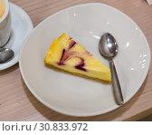 Купить «Berry swirl cheesecake», фото № 30833972, снято 28 января 2020 г. (c) Яков Филимонов / Фотобанк Лори
